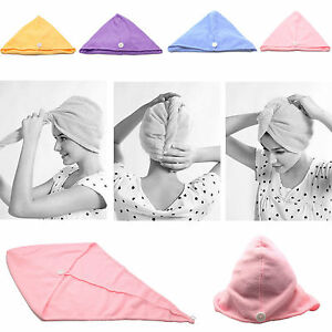 Super Dry Hair Towel Microfiber Hats Wet Long Hair Wear