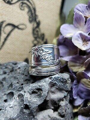 1946 Queen Bess Vintage Silver Spoon Ring Twist
