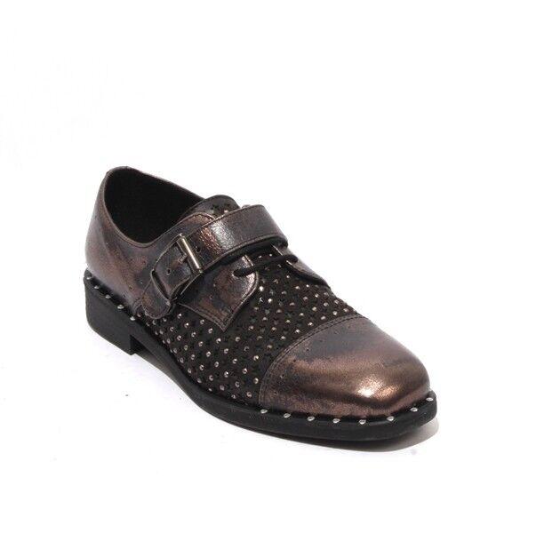 mujer Piu 10541 Bronce Antiguo Hebilla De Encaje Negro Negro Negro Cuero Zapatos Oxford 40 US 10  a la venta