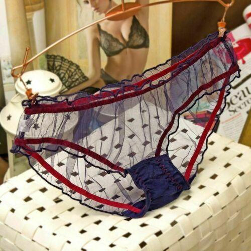 Ultra-thin Transparent Mesh Underwear Lace Knicker Panties Thongs Women Lingerie