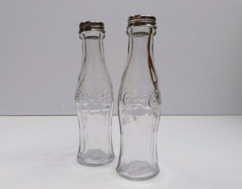 BRAND NEW Coca-Cola Salt and Pepper Glass Contour Bottles