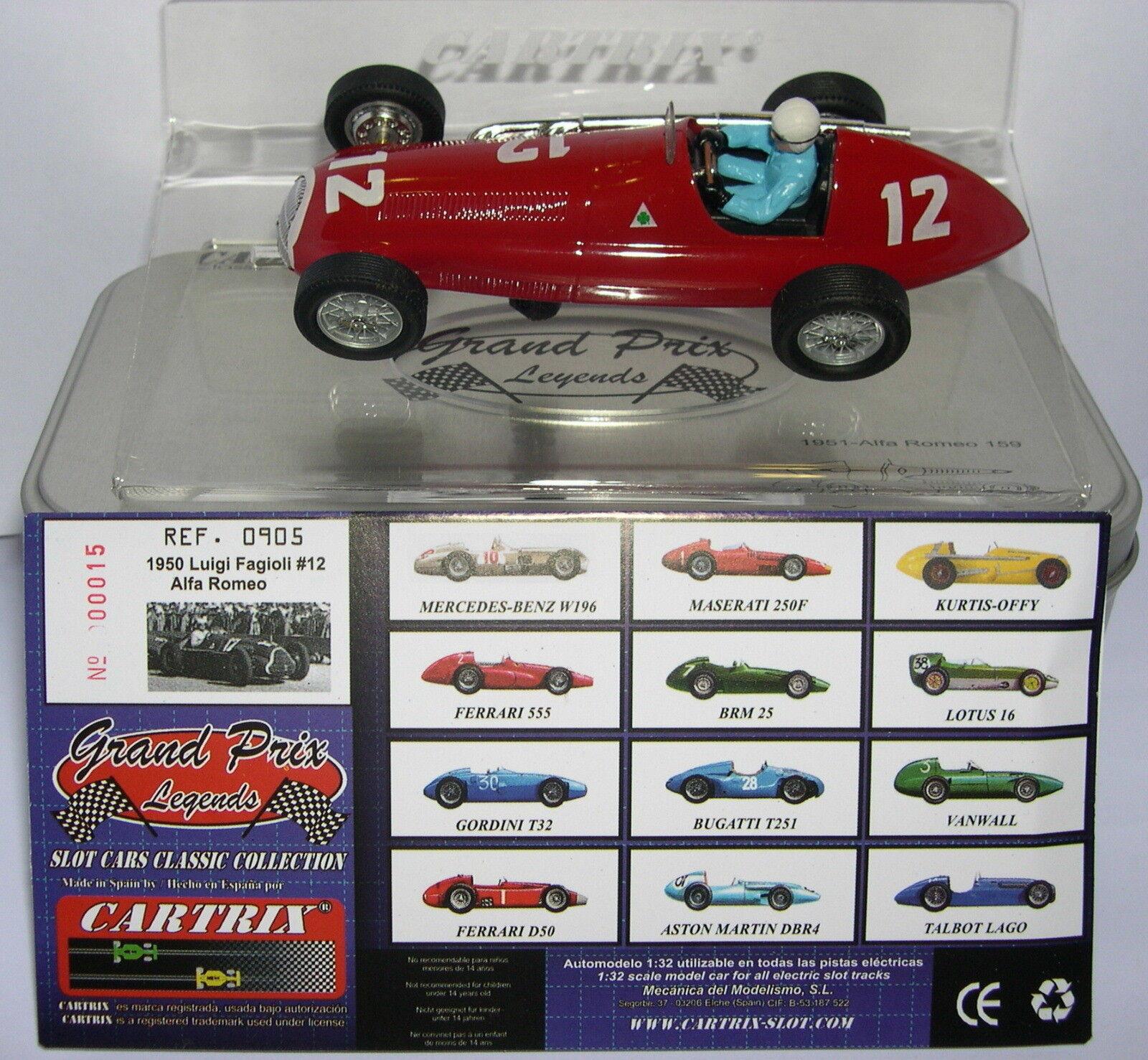 nuovo stile autotrix 0905 Alfa Romeo (Alfetta) 1950 1950 1950  12 Luigi Fagioli Limit.ed. MB  Garanzia del prezzo al 100%