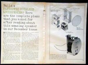 Details about Coneless Loudspeaker Ashworth Design How-To build PLANS *No  Cabinet*