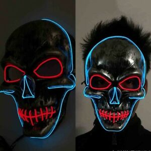 Kids Costumes & Accessories Popular Brand Dropshipping El Wire Mask Light Up Neon Skull Led Mask For Halloween Party 2018 Theme Cosplay Masks Ship From Us