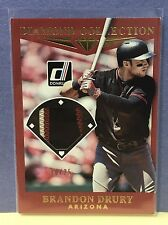 Brandon Drury 2017 Donruss Diamond Collection GOLD Game Used Patch Relic SP/25