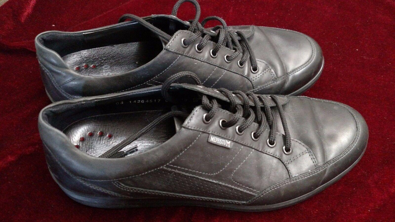 Mephisto Nicolas Black Leather Sneakers Men US Size 10