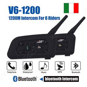 Bluetooth-Moto-Casco-Interfono-Cuffie-Auricolari-1200M-6-Ciclista-Intercom-2x