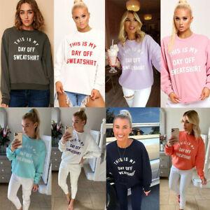 "Womens /""This Is My Day Off/"" Slogan OverSize Ladies Sweatshirt Jumper Top Sweater"