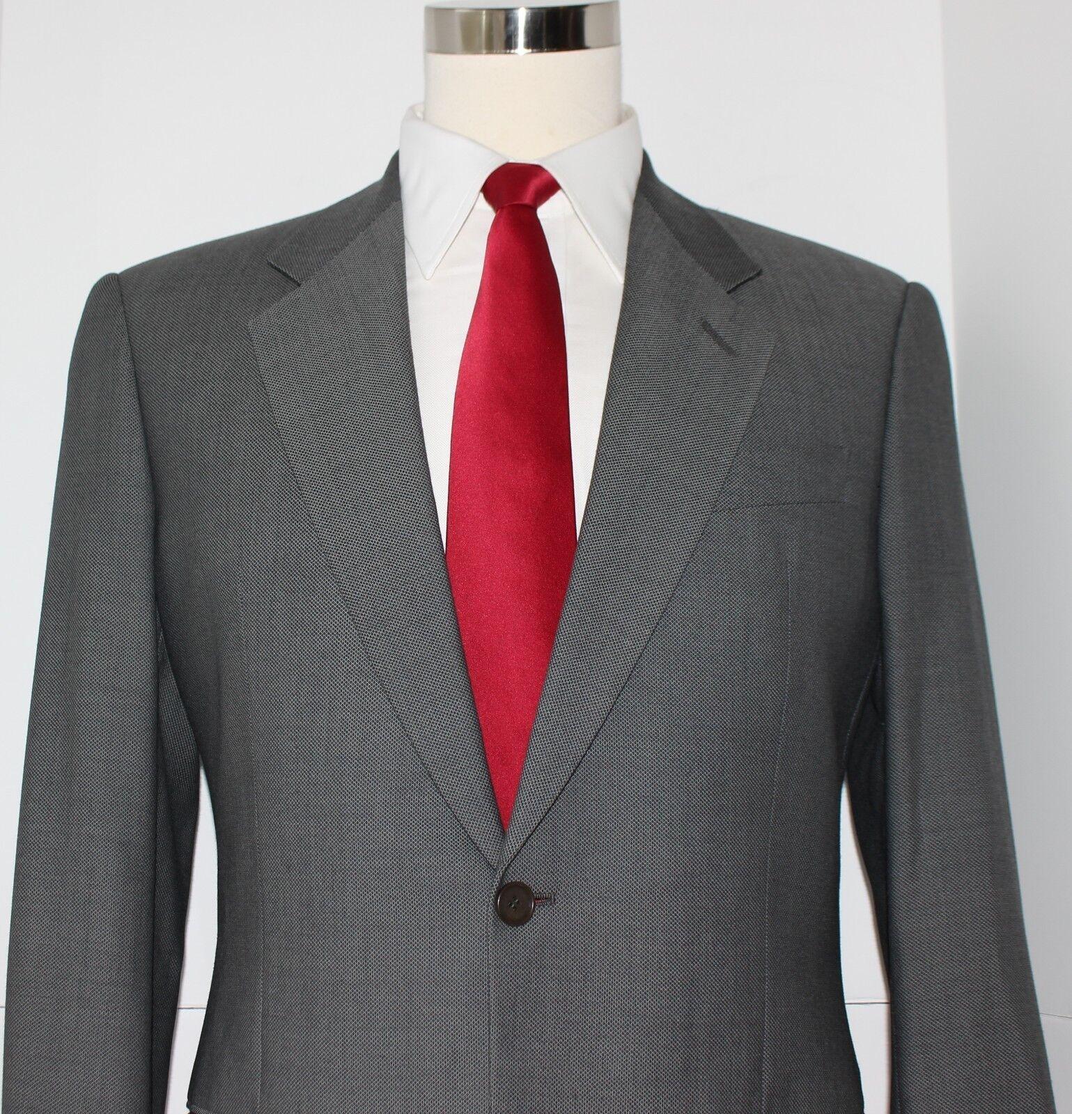 Giorgio Armani Collezioni One Button grau Nailhead Wool Suit 39 R 31 30 Pants