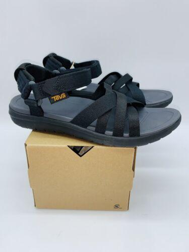 Details about  /Teva Women/'s Sanborn Strappy Sandals Black