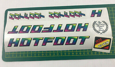 Repco Hotfoot YELLOW BLACK decal set Old school bmx
