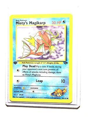 Carte Pokemon MISTY/'S MAGIKARP 88//132 Gym Challenge Wizard EDITION 1 Near Mint