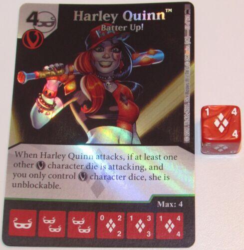 FOIL HARLEY QUINN BATTER UP 55//124 Batman Dice Masters DC