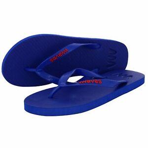 New-Waves-Cobalt-Blue-Real-Natural-Rubber-Flip-Flops-Unisex-Women-Men-Beachwear