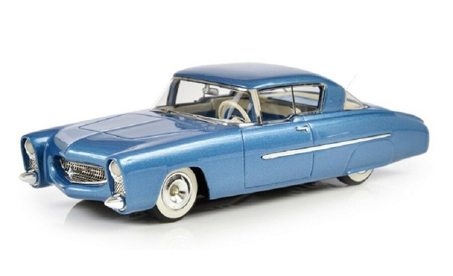 1950 Leo Lyons Mercurio Coupe 1 43 modelos de resina fundido por Esval Azul