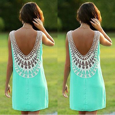 Sexy Women Summer Sleeveless Party Evening Cocktail Short Mini Chiffon Dress