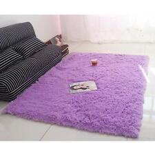 Super Soft Plush Fabric Solid Carpet Floor Rug Living Room Carpet Mat Purple DH