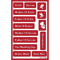 Armour Over N Over Self Stick Reusable Glass Etching Stencils Wedding