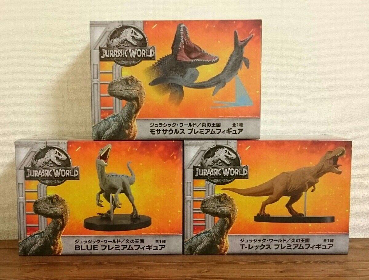 Jurassic world T-Rex Mosasaurus Blau Premium figure 3 set SEGA new EMS shipping