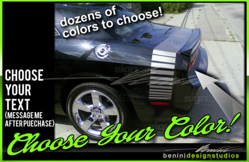 2008-2014 Dodge Challenger SXT RT SRT8 ABumble Bee Belt Racing Stripes #8