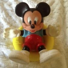 Vintage Mickey Mouse Plastic Figure with Pool Float Ring