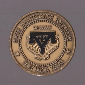 Details about 544th Maintenance Battalion Fort Hood Texas Challenge Coins  1 50 Inch