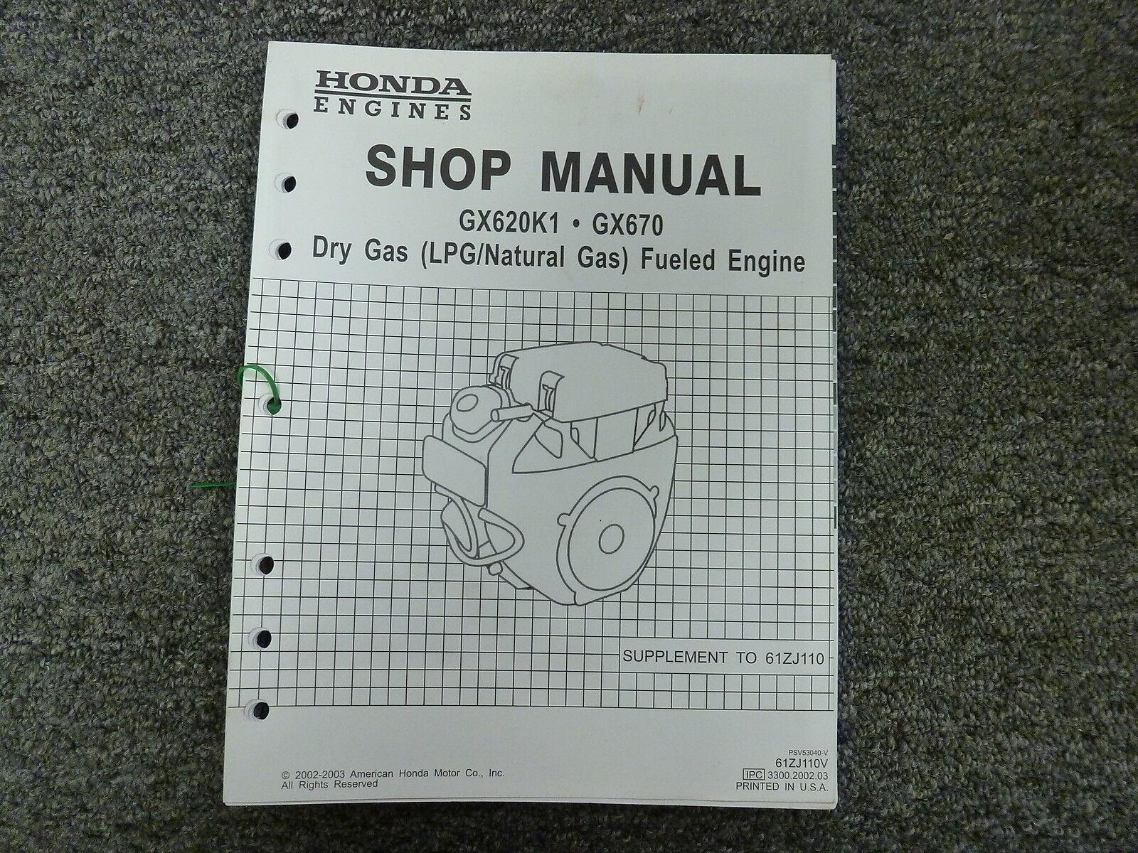 Honda Gx620 620 K1 Dry Gas Engine Service Repair Shop Manual Ebay Gx670 Wiring Diagram Norton Secured Powered By Verisign