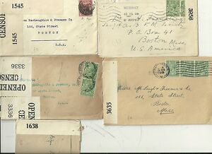 1917-19-5-x-DIFF-OPENED-BY-CENSOR-COVERS-TO-BOSTON-USA-DURING-WW1