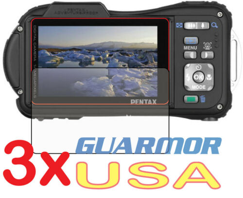3x Anti-Glare Matte LCD Screen Protector Cover Guard Film Pentax WG-3 Ricoh WG-4