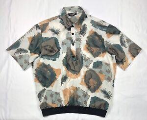 Vintage-Fulton-Street-Shirt-Works-Size-L-Large-Short-Sleeve-Print-Made-in-USA