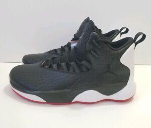 6b949babd2b4 Air Jordan Super.Fly MVP L Black White Red Men s Shoes Sz 12 (AT3005 ...