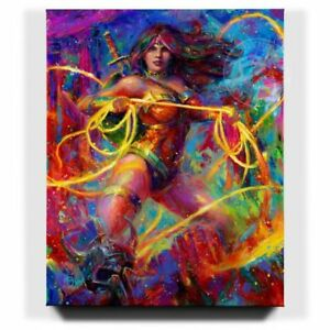 Blend-Cota-Wonder-Woman-48-x-60-S-N-LE-Gallery-Wrapped-Canvas