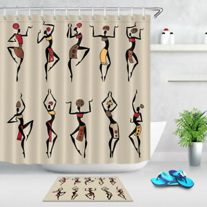 Image Is Loading Bathroom Fabric Shower Curtain Dancing Woman 72 034