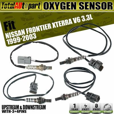 Downstream 4 Oxygen Sensor 1 /& 2 for Nissan Xterra Frontier 2004 3.3L Upstream