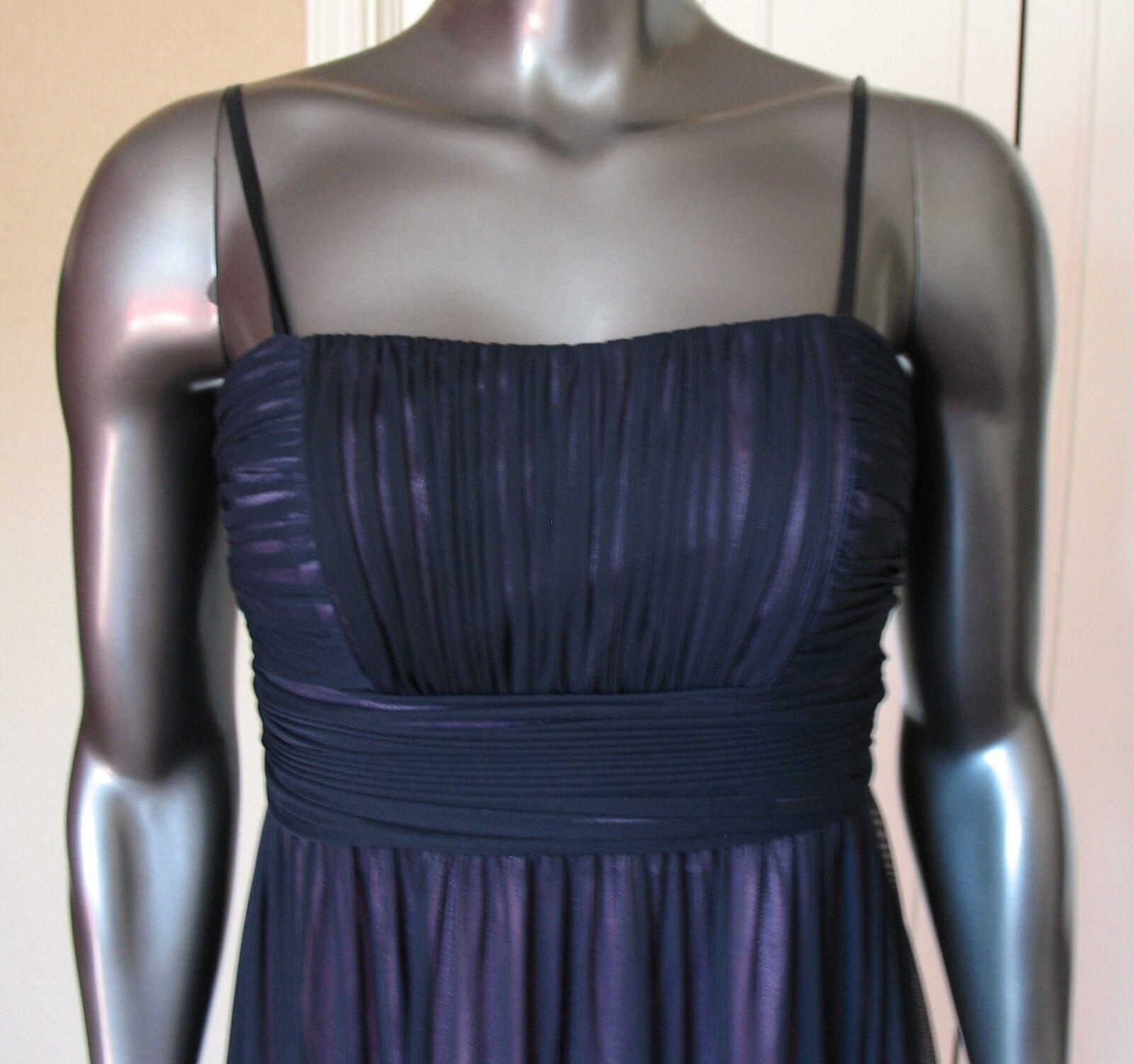 OLEG CASSINI DAVID'S BRIDAL NAVY purpleC purpleC purpleC SPAGHETTI STRAP  BRA DRESS SIZE 4 406ec3