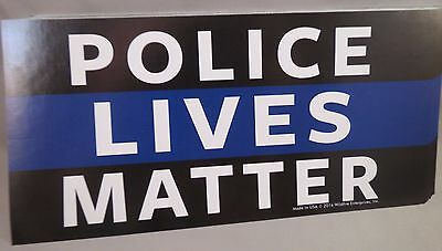 Wholesale Lot of 6 Police Supporter Thin Blue Line Decal Bumper Sticker