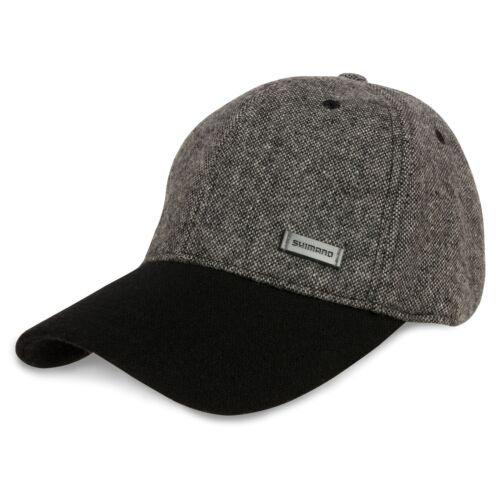 Angelsport Shimano Tweed Cap Schirmmütze Kappe Basecap gefüttert braun oder grau/schwarz
