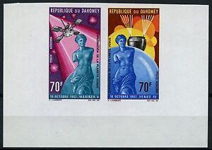 Space-Raumfahrt-1968-Dahomey-Planet-Venus-von-Milo-335-336-U-Imperf-MNH-1075