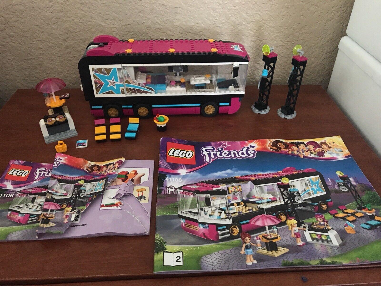 Lego Friends Pop Star Tour Bus Complete w  Manual
