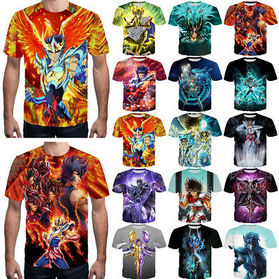 New Fashion Women Men Anime Saint Seiya Print 3D T-Shirt Casual Short Tee T53