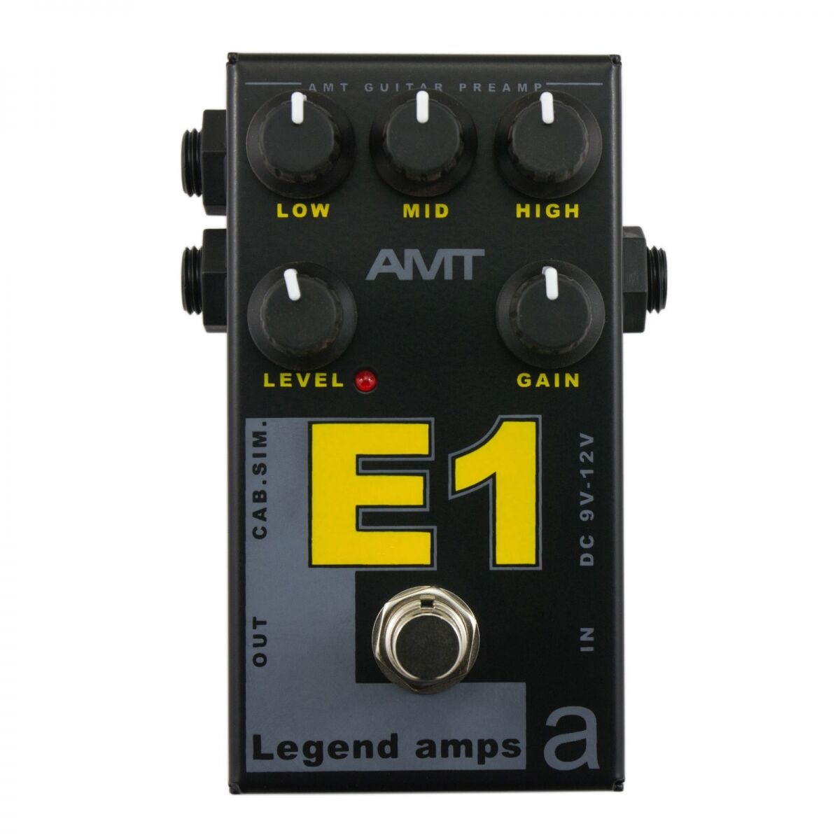 AMT Electronics E1 (Engl) – guitar preamp (distortion overdrive) effect pedal
