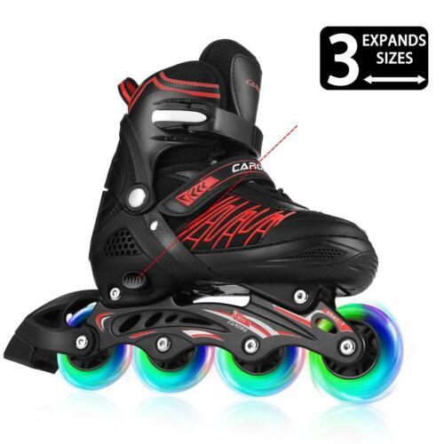 Adjustable Inline Skates Kids Girls Boys Roller Skate with Illuminating ED