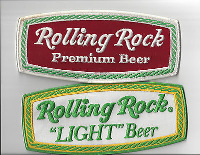 ROLLING ROCK BEER & ROLLING ROCK LIGHT BEER PATCHES