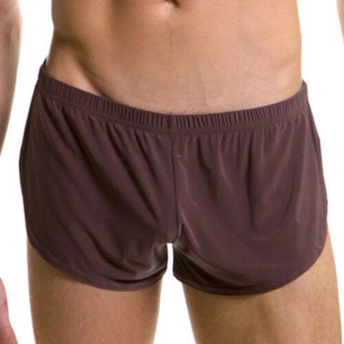 G1101 Mens Side Split Shorts soft silk-like Cool