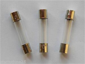 Lent Au choix de T 500mA à T 8A Lot 10 Fusibles verre 5x20 mm Temporisé