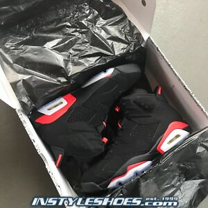 brand new 92f31 6b96a Image is loading Nike-Air-Jordan-6-Black-Infrared-2019-Retro-