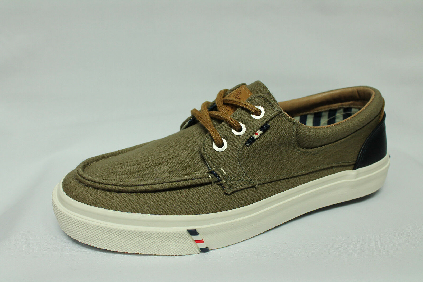Sneakers Wrangler Icon Moc tessuto verde militare Memory Foam tipo Vans o Sperry