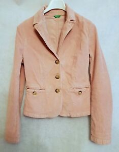 Size United Uk Pink Blazer 14 Cord Colors 42 Benetton Ebay Jacket Of qgcr0gWF