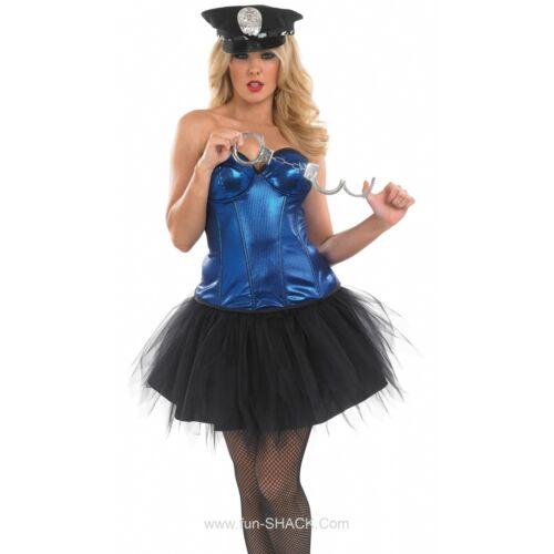 Tutu Army Girl Cop Outfit Leopard Corset Ladies Fancy Dress Halloween Costume