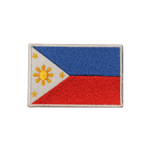 Philippines Country Flag Patch Iron On Patch Sew On Badge Embroidered Patch